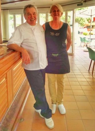 The owners of Restaurant Rembrandt; the belgians Astrid Van de Velde & Filip Wijngaert